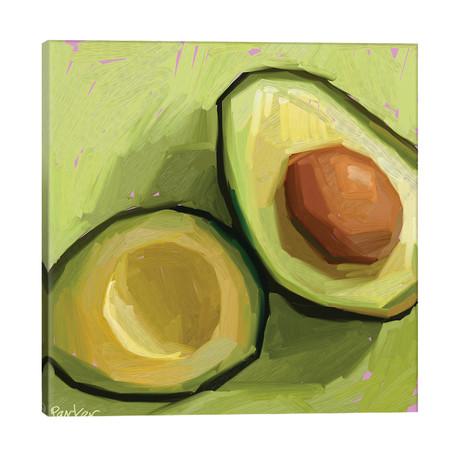"Just An Avocado // Teddi Parker (18""W x 18""H x 1.5""D)"