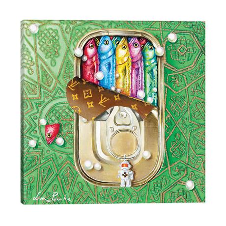"Tin Box With Sardines // Liva Pakalne Fanelli (18""W x 18""H x 1.5""D)"