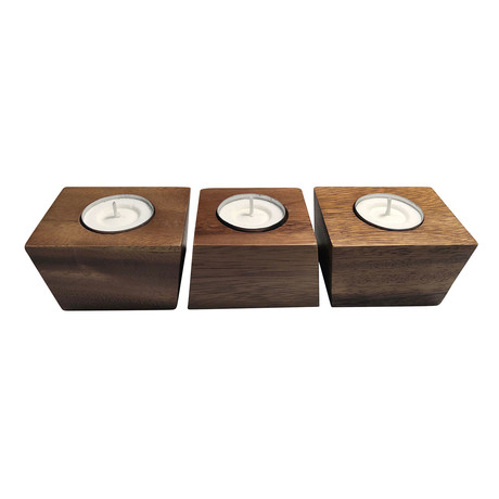 3 Piece Tealight Candle Holder