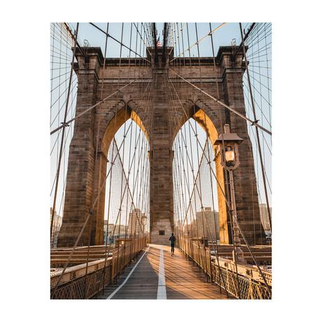"""Brookyln Bridge Sunrise (8""""W x 10""""H)"""