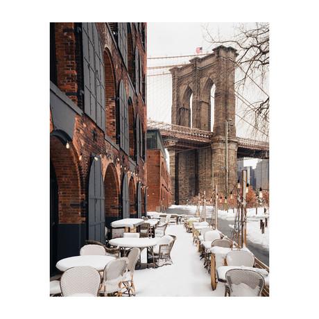 "Brooklyn Bridge Snow (8""W x 10""H)"