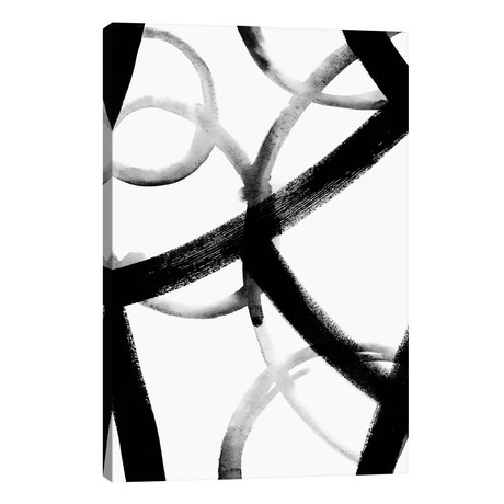 "Monochrome Ripple I // Grace Popp (18""W x 26""H x 1.5""D)"