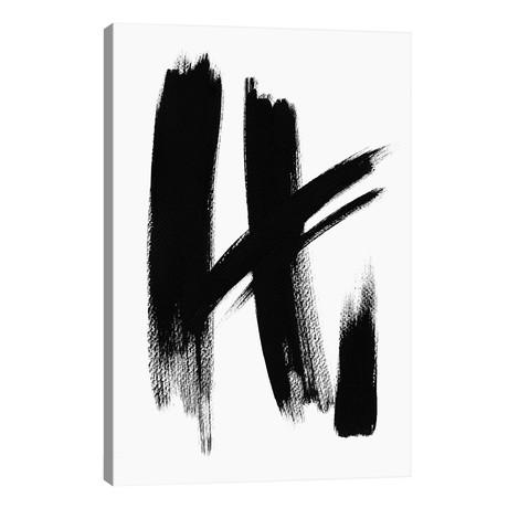 "Brush Absract No. 1 // Melissa Selmin (18""W x 26""H x 1.5""D)"