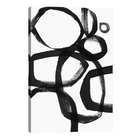 "Brushstroke Circles // Linda Woods (18""W x 26""H x 1.5""D)"