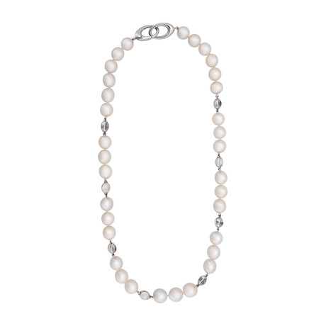 Assael 18k White Gold + South Sea Pearl Necklace I // Store Display