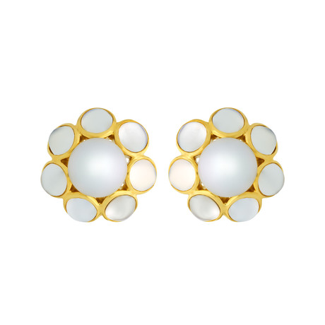Assael 18k Yellow Gold + South Sea Pearl Earrings II // Store Display