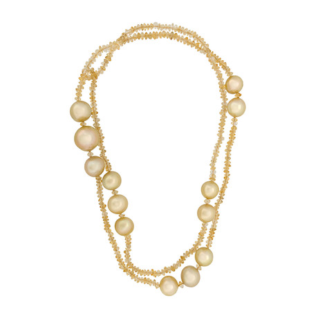 Assael Citrine + South Sea Pearl Necklace // Store Display