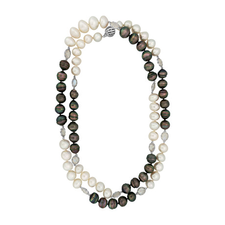 Assael 18k White Gold + South Sea Pearl Necklace II // Store Display