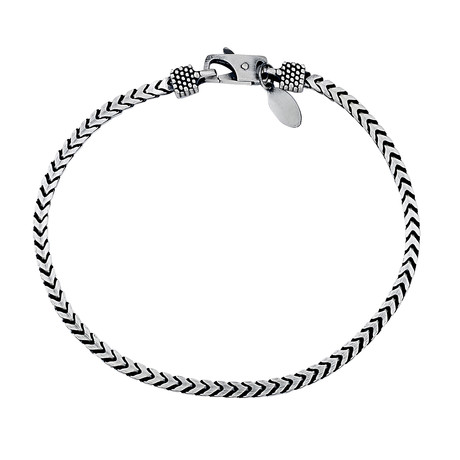 "Sterling Silver Woven Chain Bracelet // 3mm (8"" // 12.6g)"