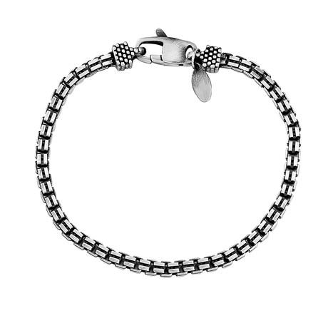 "Sterling Silver Double Box Chain Bracelet // 4mm (8"" // 16.32g)"
