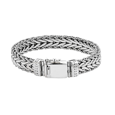 Woven Dot Design Bracelet // 12mm