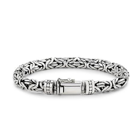 Sterling Silver Byzantine Bracelet // 8mm