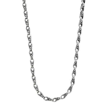 "Sterling Silver Balinese Carved Lobster Links Necklace (18"" // 33.8g)"