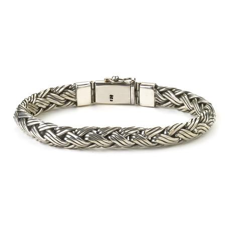 "Woven Imperial Bracelet // Silver (8"" // 54g)"