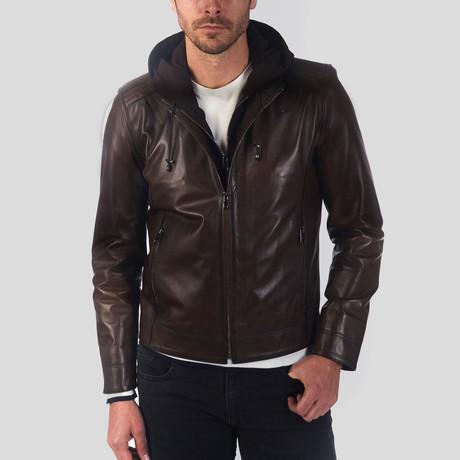 Gonen Leather Jacket // Chestnut (S)