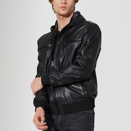 Duzici Leather Jacket // Black (S)