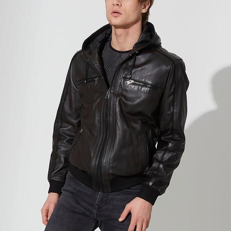 Brogan Leather Jacket // Brown (S)