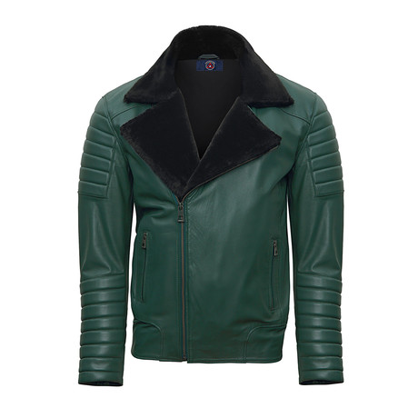 Donald Leather Jacket // Green (S)