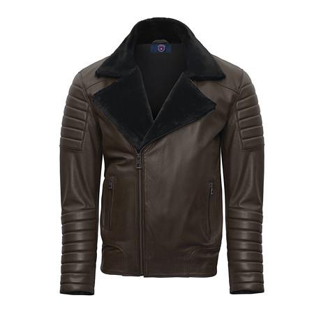 Hadid Leather Jacket // Brown (S)