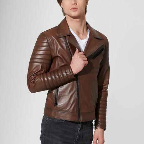 Karakopru Leather Jacket // Chestnut (S)