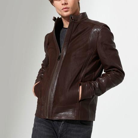 Sinop Leather Jacket // Brown (S)