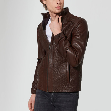 Bor Leather Jacket // Brown (S)