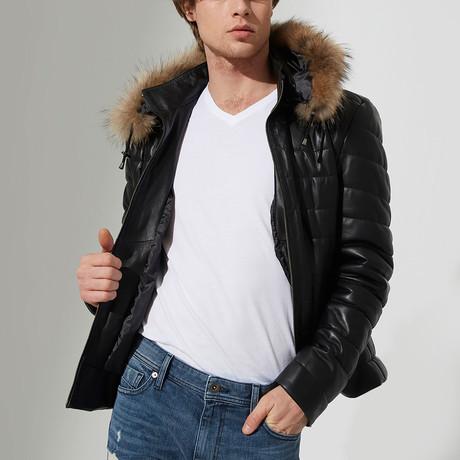 Ceylanpinar Leather Jacket // Black (S)