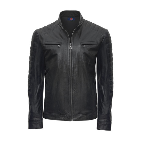 Brooklyn Leather Jacket // Black (S)
