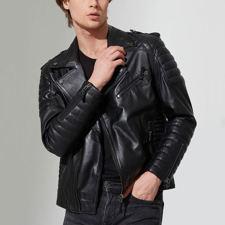 Uzunkopru Leather Jacket // Black (S)