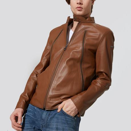 Silvan Leather Jacket // Chestnut (S)