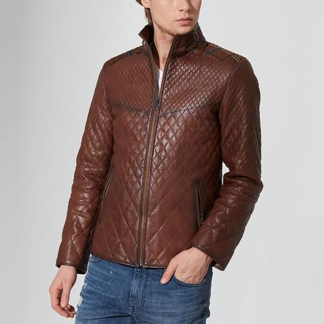 Bartin Leather Jacket // Chestnut (S)