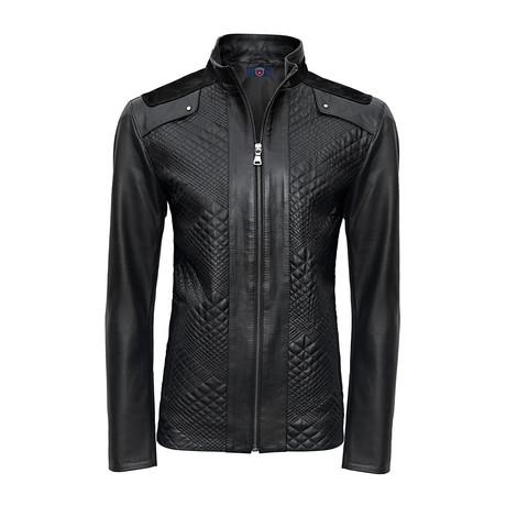 Aspen Leather Jacket // Black (S)