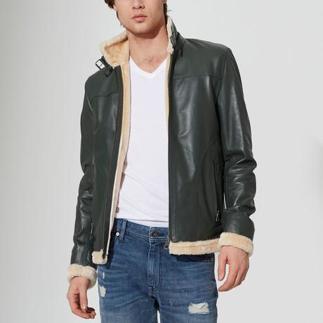 Jordan Leather Jacket // Green (S)