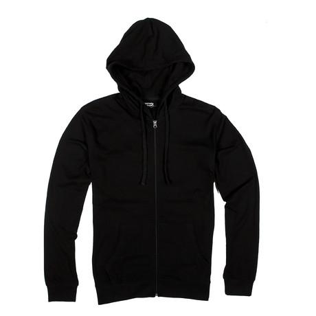 Lightweight Zip Up Hoodie // Black (S)