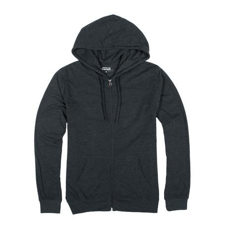 Lightweight Zip Up Hoodie // Dark Gray (S)