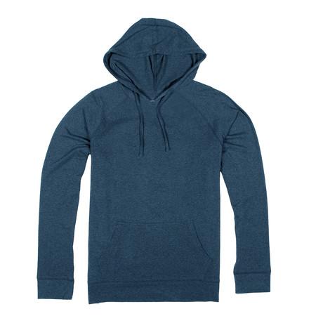 Soft Pullover Hoodie // Dark Heather Blue (S)