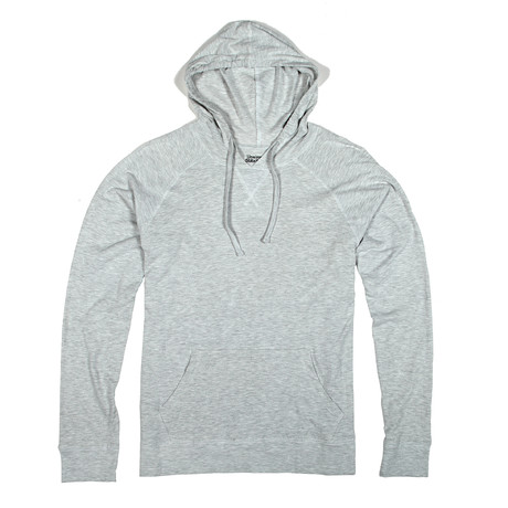 Soft Pullover Hoodie // Heather White (S)