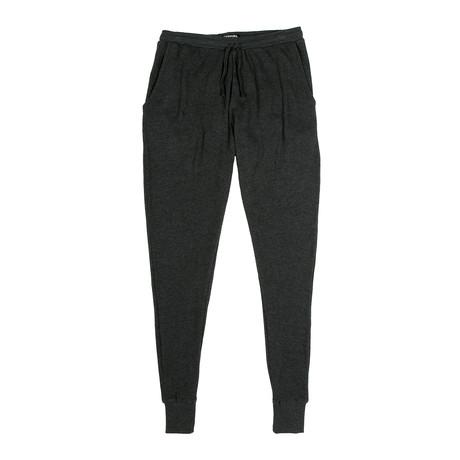 Waffle Knit Jogger // Dark Gray (S)