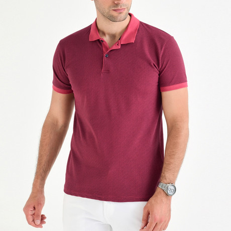 Pompeo Short Sleeve Polo // Rose (S)