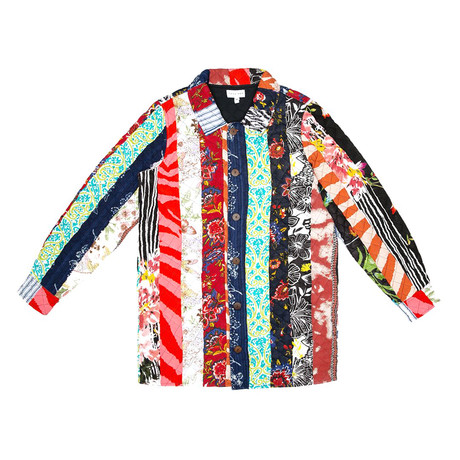 Balotra Upcycled Patchwork Jacket // Multicolor (S)