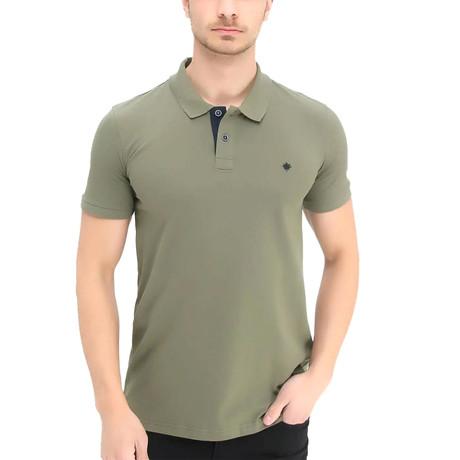 Ross Short Sleeve Polo // Khaki (S)