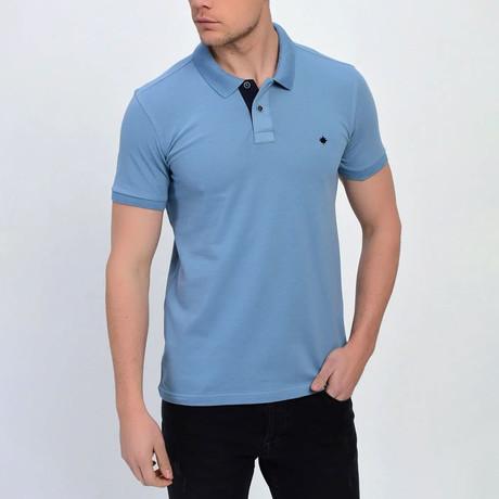 Ross Short Sleeve Polo // Light Blue (S)