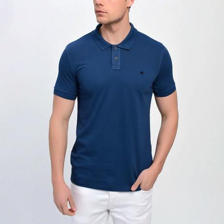 Ross Short Sleeve Polo // Navy Blue (S)
