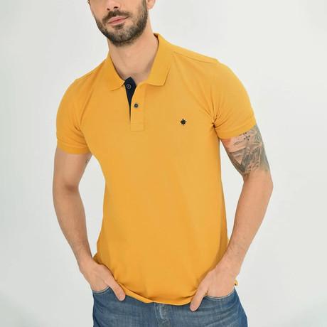 Ross Short Sleeve Polo // Mustard (S)