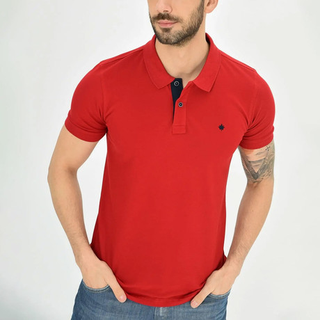 Ross Short Sleeve Polo // Red (S)