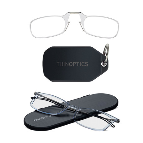 Keychain + Frontpage Brooklyn Reading Glasses Bundle // Anti Fog Lenses // Clear (+1.00)