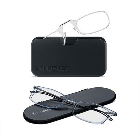 Universal Pod + Frontpage Brooklyn Reading Glasses Bundle // Anti Fog Lenses // Clear (+1.00)