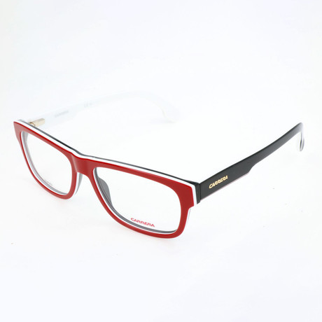 Unisex 1102-V Optical Frames // Red Vertical Striped
