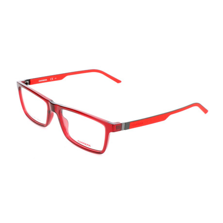 Men's CA8818-PY8 Optical Frames // Red + Matte Ruthenium