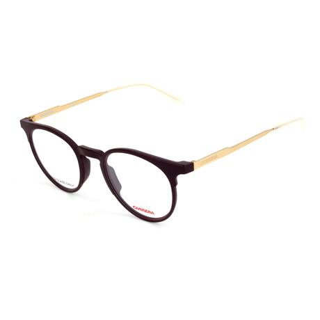 Unisex CA6665-R57 Optical Frames // Matte Plum + Shiny Plum + Rose Gold